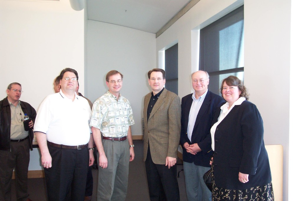 Dr. Frank Soltis with User Group Officers